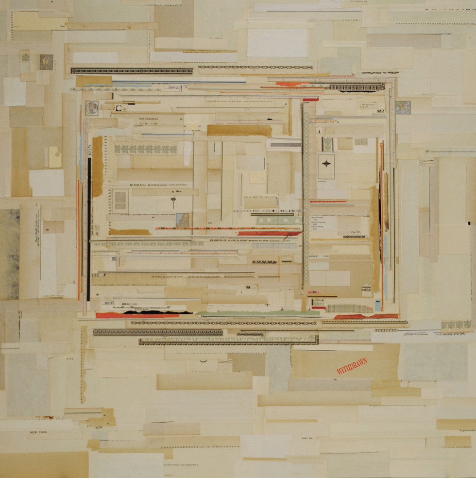 """Message #2 Antique Paper on Board 30"""" x 30"""""""