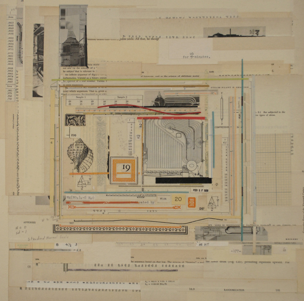 "A Short Pilgrimage Antique Paper on Board 16"" x 16"""
