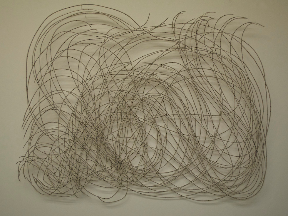 """The Network of the Absolute Cut Paper Drawing 19 1/2"""" x 24"""""""