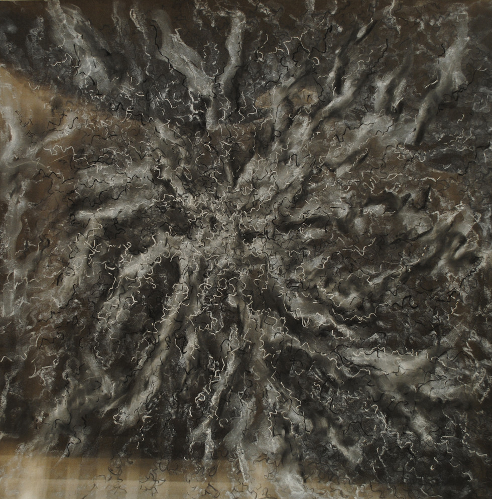 """Conditions 6 Charcoal and Pastel on Paper 23 1/2"""" x 23 5/8"""""""
