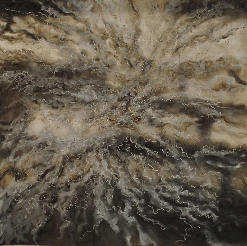 """Conditions 1 Charcoal and Pastel on Paper 23 1/2"""" x 23 5/8"""""""