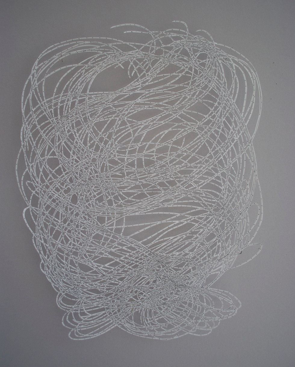 """Visualized Network Cut Paper Drawing 23"""" x 18"""""""