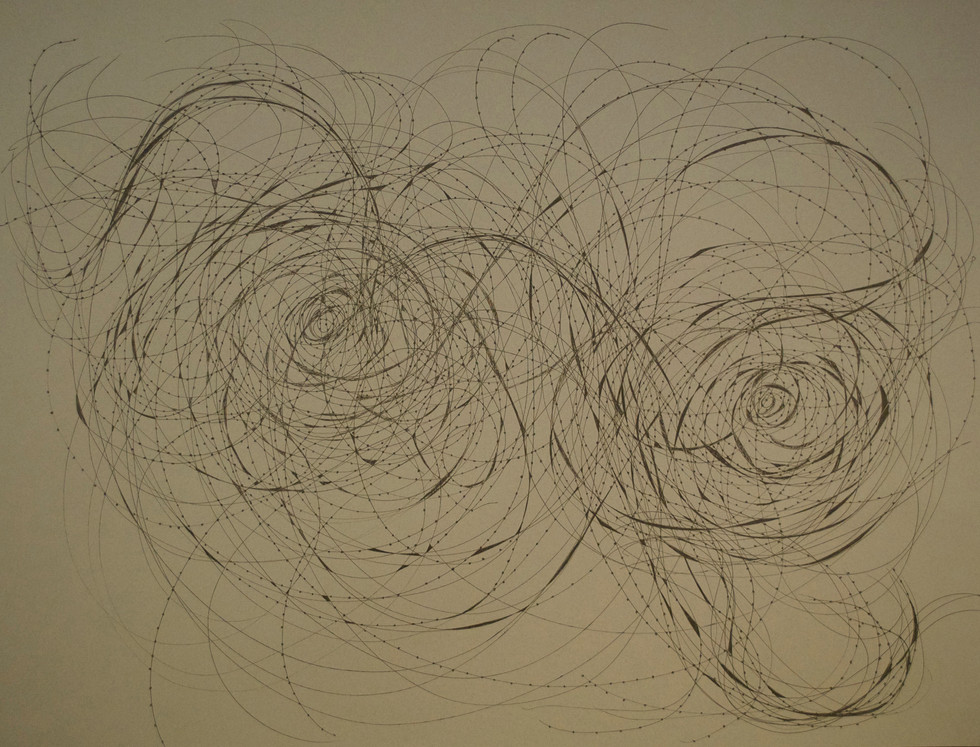 """The Embrace Pen and Ink on Paper 19"""" x 25"""""""