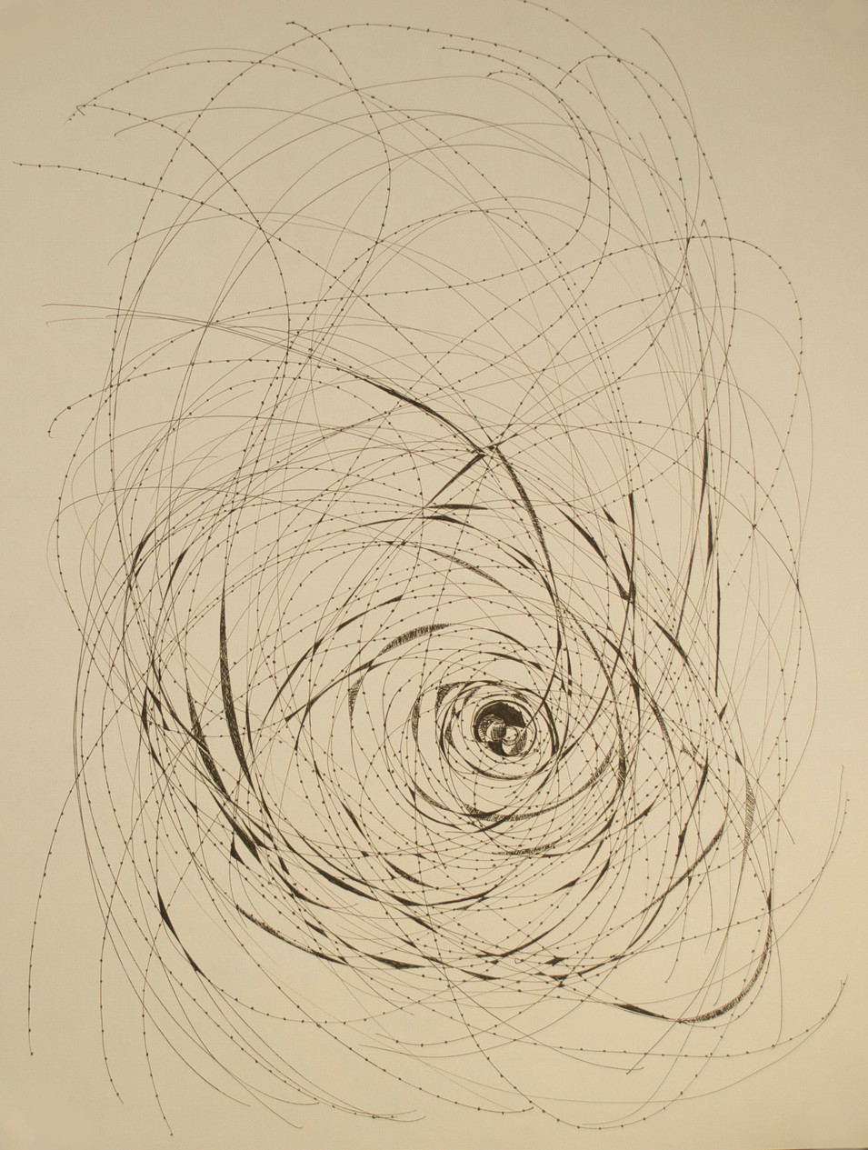 """Irrational Curves Pen and Ink on Paper 25"""" x 19"""""""