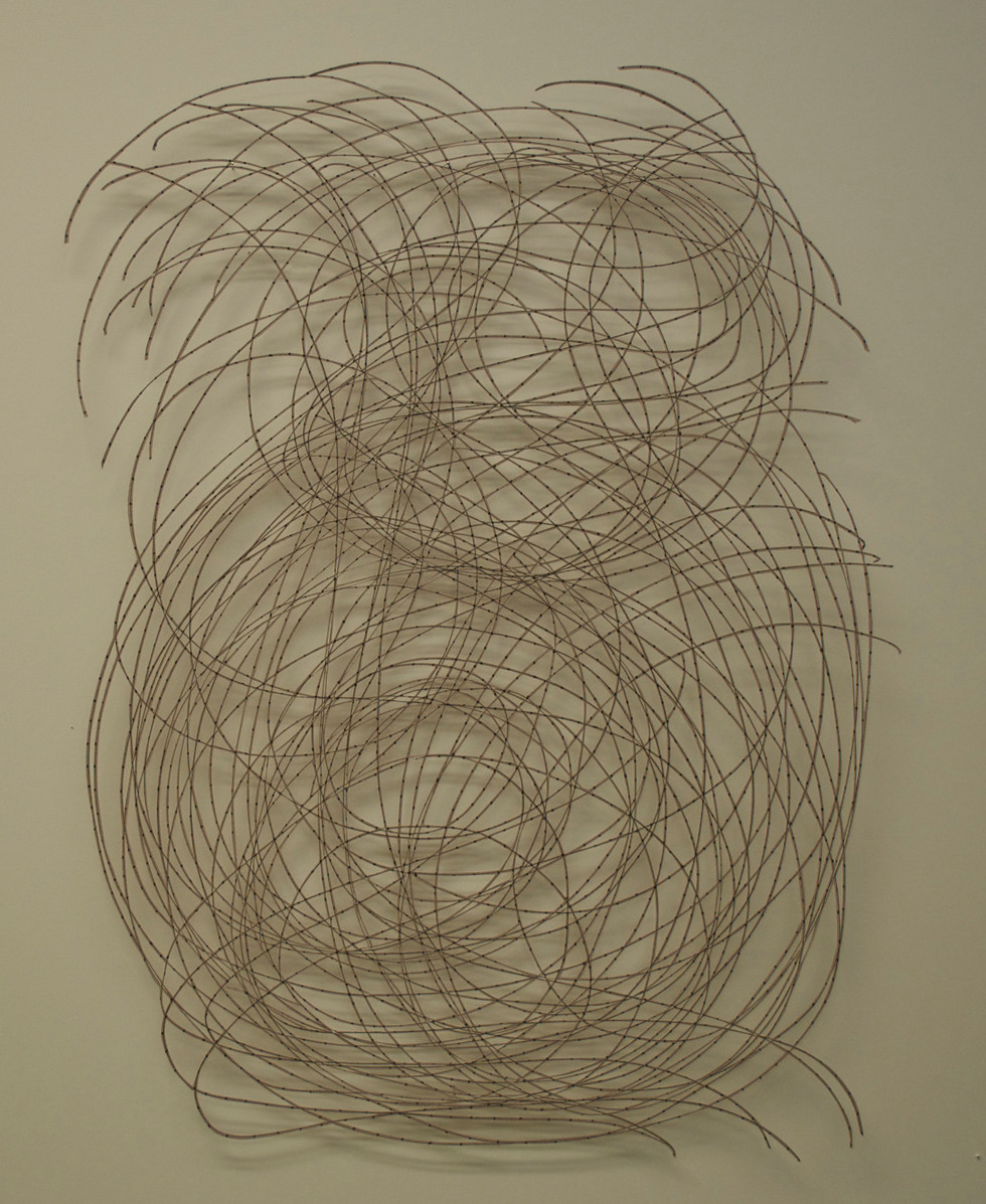 """The Map Cut Paper Drawing 25"""" x 18"""""""