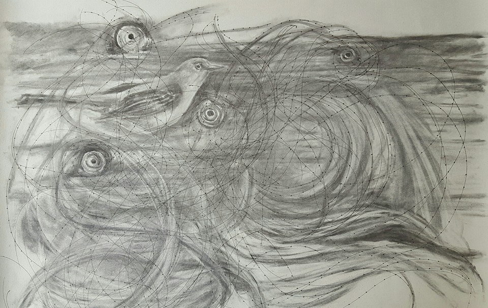 """The Passage Charcoal on Paper 25"""" x 19"""""""