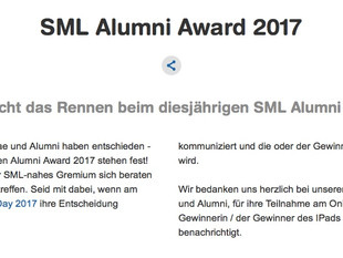 Top 3 - ZHAW SML Alumni Award 2017