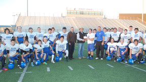 Varsity Football Team Takes the Founding Donors Campaign Challenge