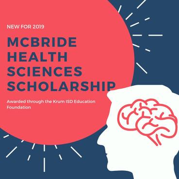 Introducing the McBride Health Sciences Scholarship