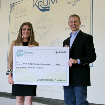 Coserv Electric Donates $5,000 to KEF