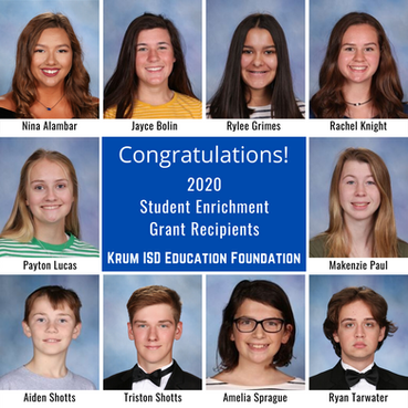 Ten grants awarded to students in 2020!