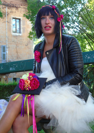 Mariage funky pour Marion