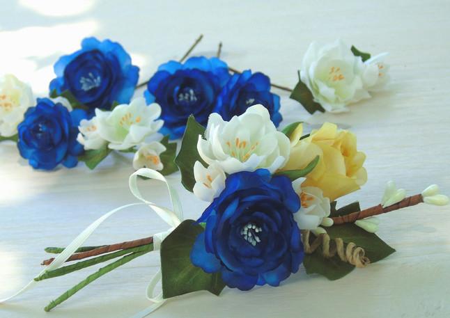 du bleu pour Isabelle et Gerard