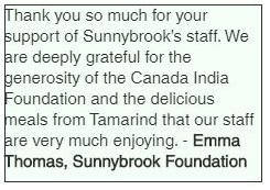 Emma Thomas, Sunnybrook Foundation