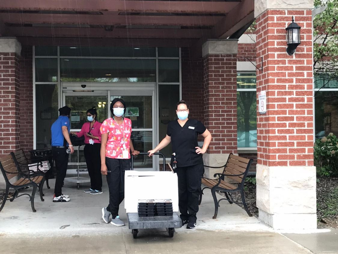 Delivery at Senior Home
