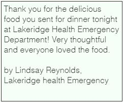 by Lindsay Reynolds, Lakeridge health Em