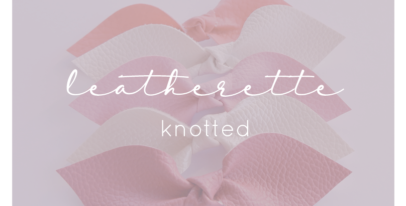 Leatherette Knotted