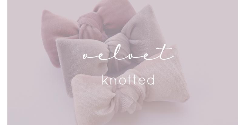 Knotted Velvet Bows