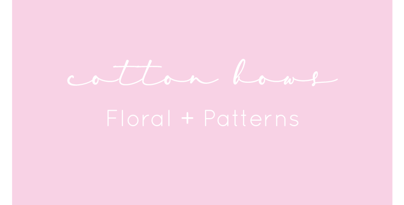 Cotton Bows - Floral + Patterns