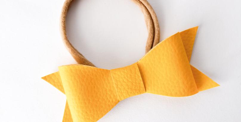 Yellow Leatherette