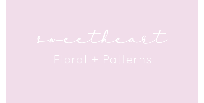 Sweetheart Bows -Floral + Patterns