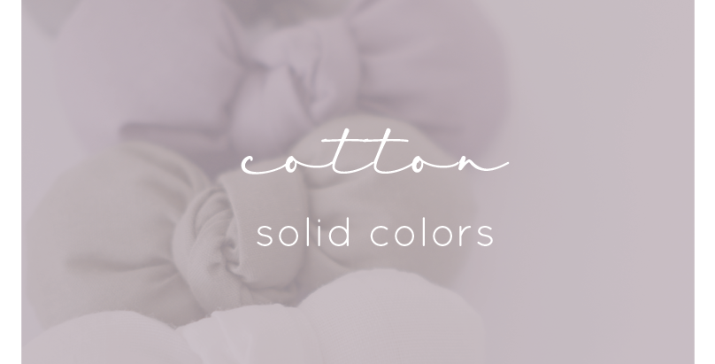 Cotton Bows - Solid Colors