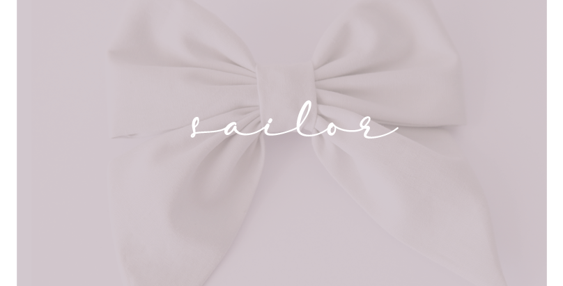 Sailor Bows - Solid Colors
