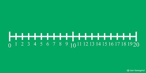 Getallenlijn 0 t/m 20