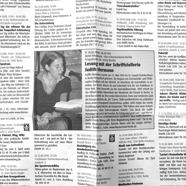 Lesung mit Judith Hermann