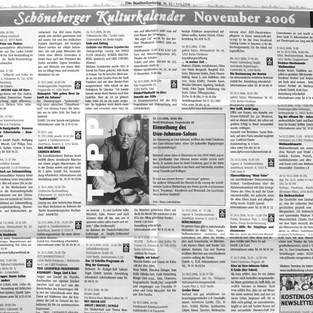 Schöneberger Kulturkalender 2006