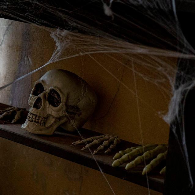 House on Foggy Bluff - Halloween, Oct. 31
