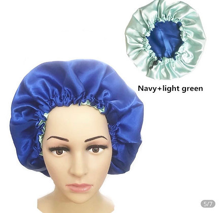 Reversible silk bonnet