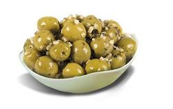 Olives verte cassée à l'ail