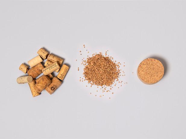 Reciclaje de tapones de corcho