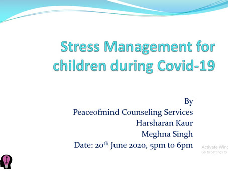 COVID-19 Stress Management for Adolescents