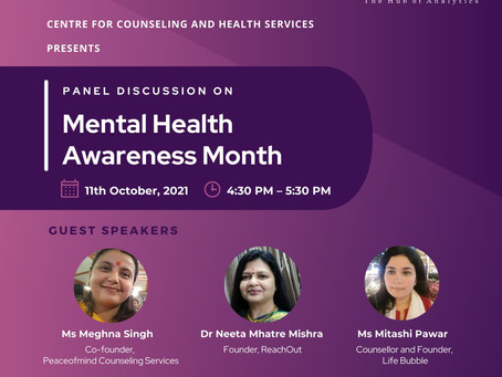 Mental Health Awareness- Panel Discussion@CHRIST Pune
