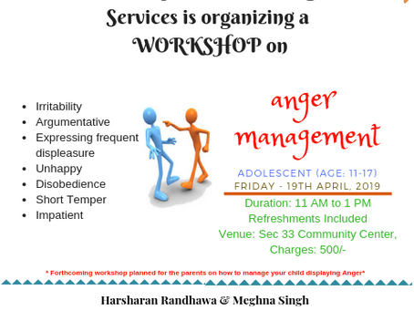 Workshop: Adolescent Anger Management