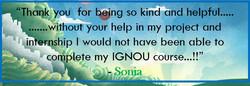Feedback on Ignou project