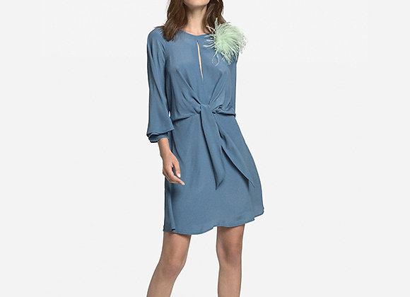 Ottod'ame - Fluid Mini Dress With Knot
