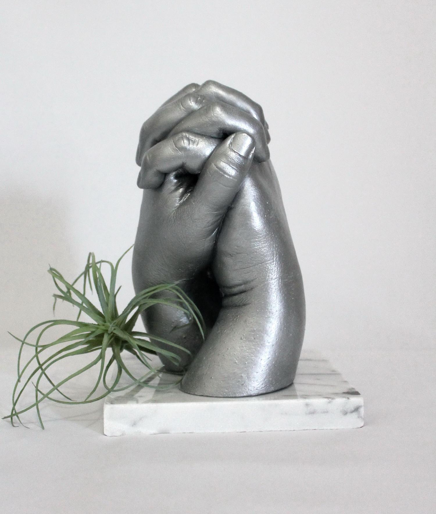 3D Couple's Hand Casting
