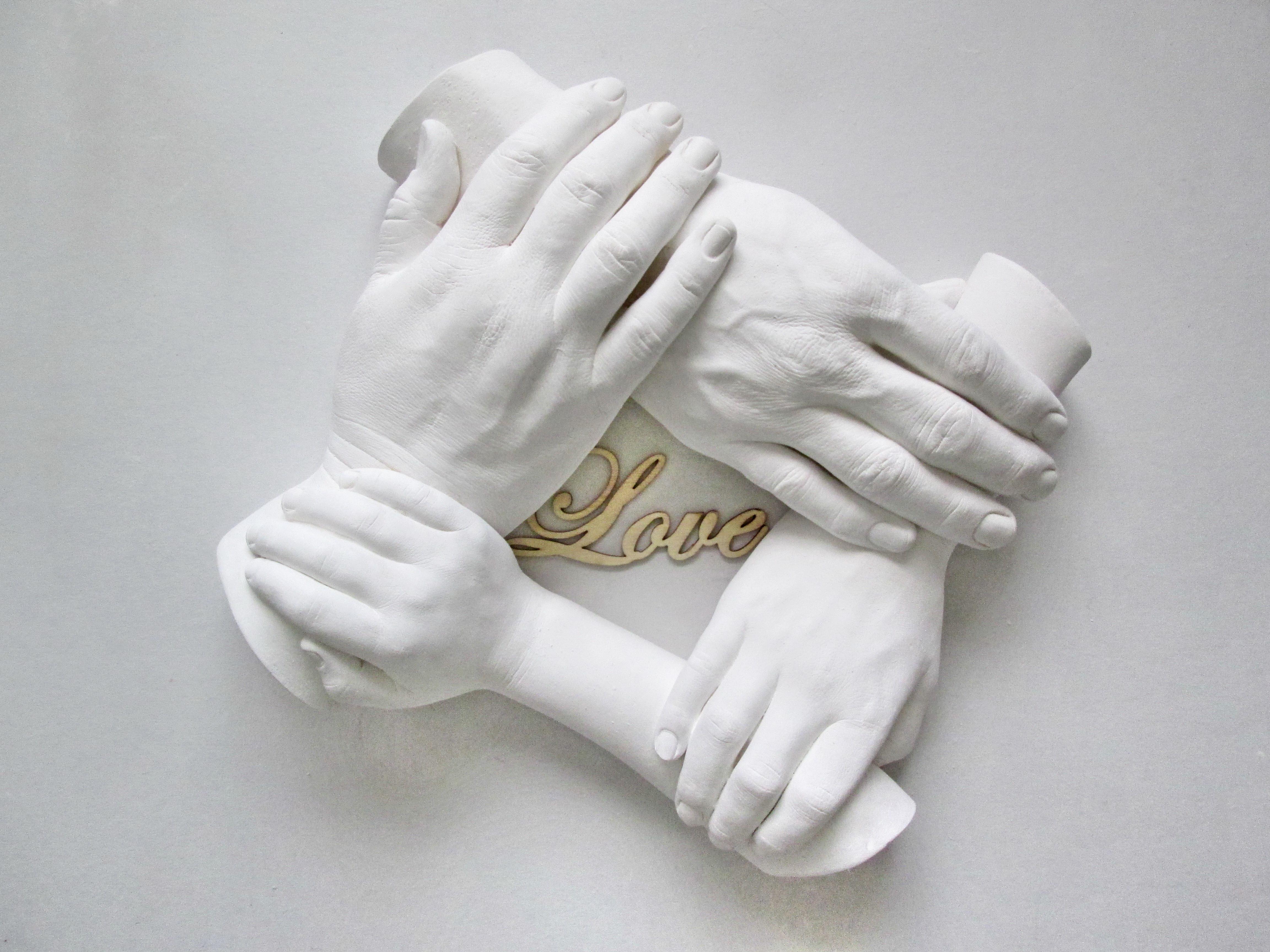 3D Family Hand Wreaths