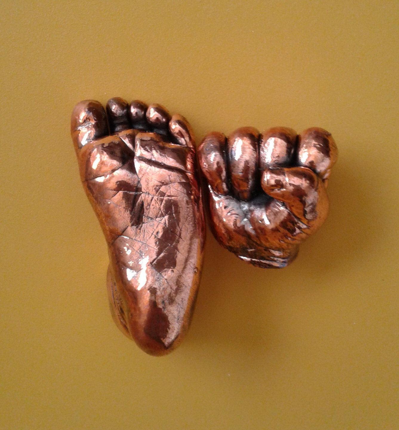 Bronzed 3D Newborn Castings