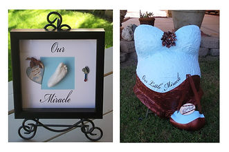 Our miracle foot shadowbox with molds.jp