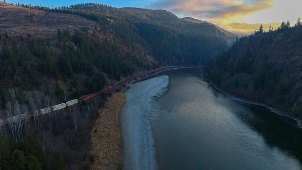 Kootenai River, Moyie Springs, Idaho, USA