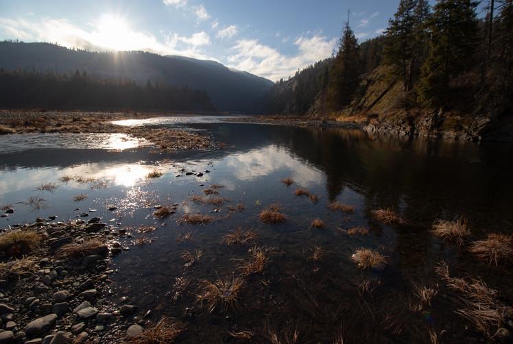 Kootenai and Moyie Rivers, Moyie Springs, Idaho, USA