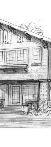 exterior perspective sketch craftsman