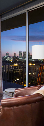 penthouse view of century city