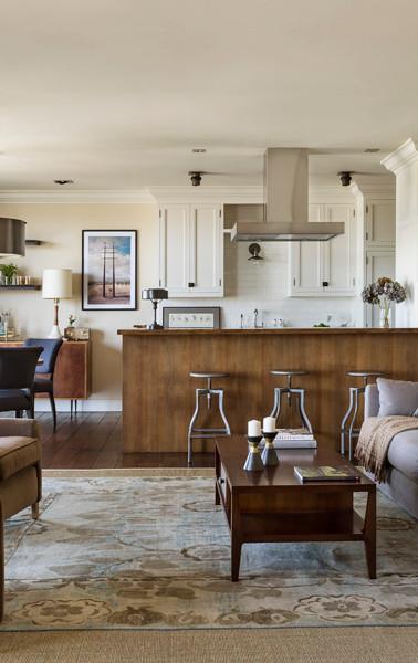 open floor plan livingroom dining area and entertaining kitchen