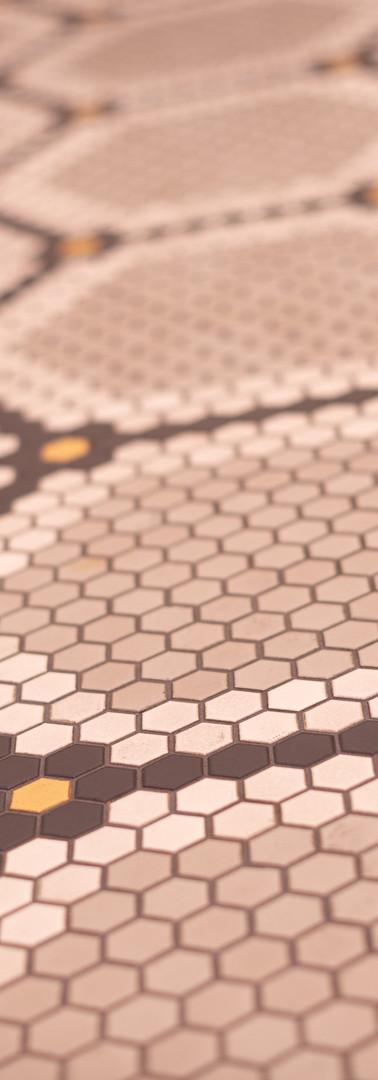 custom historic vintage 1 inch hex floor