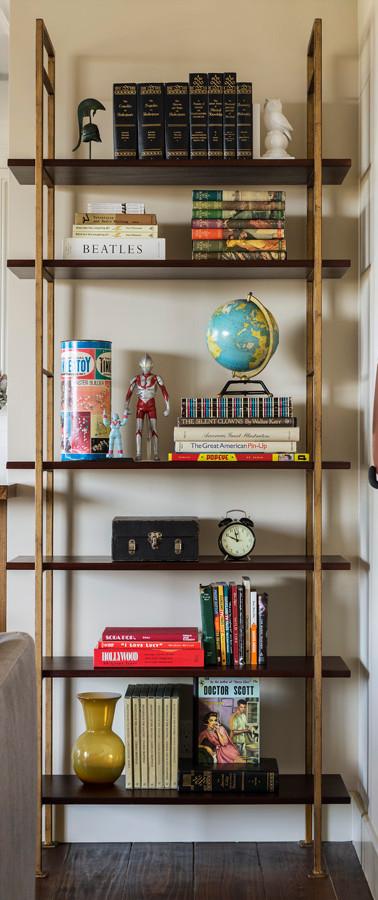 designer bookcase merchandising